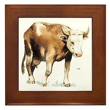 Cattle Cow Farm Animal Framed Tile