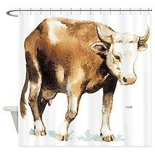 Cattle Cow Farm Animal Shower Curtain
