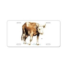 Cattle Cow Farm Animal Aluminum License Plate