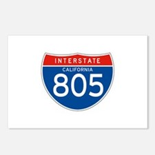 Interstate 805 - CA Postcards (Package of 8)