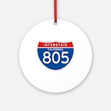 Interstate 805 - CA Ornament (Round)