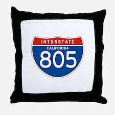 Interstate 805 - CA Throw Pillow