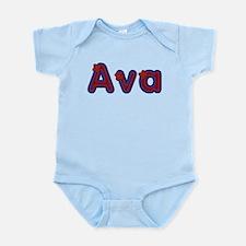 Ava Red Caps Body Suit