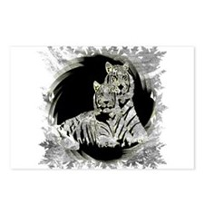 TWO WHITE TIGERS PORTRAIT Postcards (Package of 8)