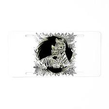 TWO WHITE TIGERS PORTRAIT Aluminum License Plate