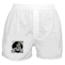 TWO WHITE TIGERS PORTRAIT Boxer Shorts