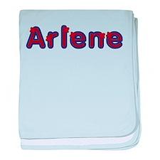 Arlene Red Caps baby blanket