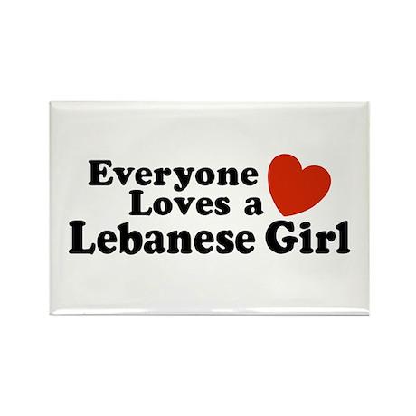 Everyone Loves a Lebanese Girl Rectangle Magnet