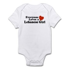 Everyone Loves a Lebanese Girl Infant Bodysuit