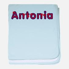 Antonia Red Caps baby blanket