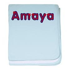 Amaya Red Caps baby blanket