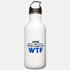 The Calendar Says WTF Water Bottle