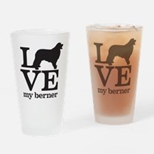Love my Berner Drinking Glass