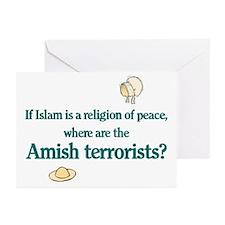 Amish Terrorists Greeting Cards (Pk of 10)