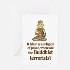 Buddhist Terrorists Greeting Cards (Pk of 10)
