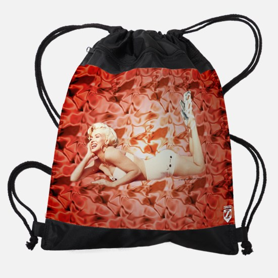 Marilyn Monroe Red Silk Drawstring Bag