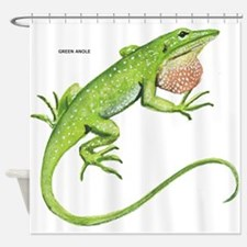 Green Anole Lizard Shower Curtain