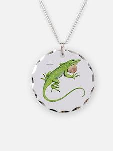 Green Anole Lizard Necklace