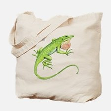 Green Anole Lizard Tote Bag