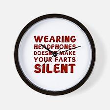 Farts Silent Wall Clock