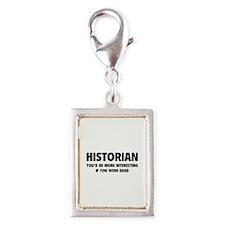 Historian Silver Portrait Charm