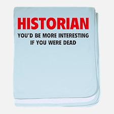 Historian baby blanket