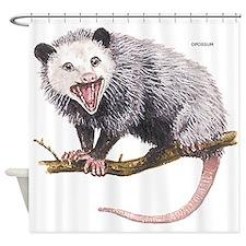 Opossum Possum Animal Shower Curtain