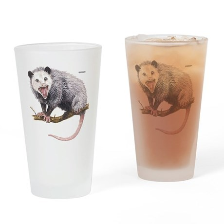Opossum Possum Animal Drinking Glass