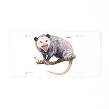 Opossum Possum Animal Aluminum License Plate