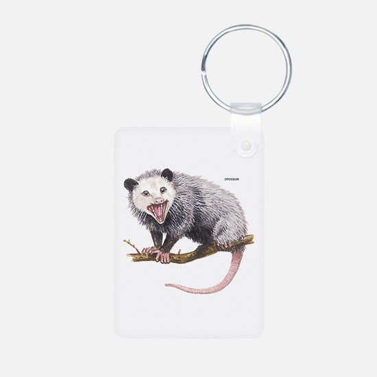 Opossum Possum Animal Aluminum Photo Keychain
