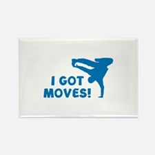 I GOT MOVES! Rectangle Magnet