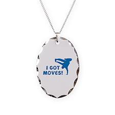 I GOT MOVES! Necklace Oval Charm