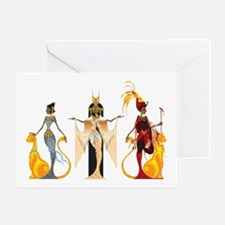 The Divas of Egypt Greeting Card