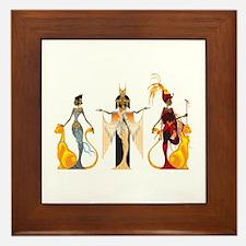 The Divas of Egypt Framed Tile