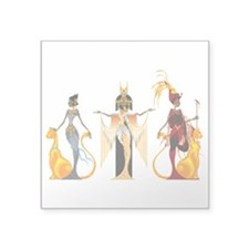 "The Divas of Egypt Square Sticker 3"" x 3"""