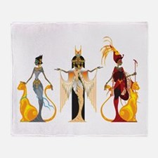 The Divas of Egypt Throw Blanket