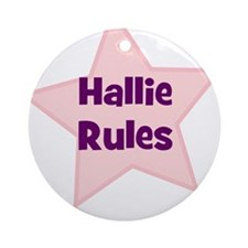 Hallie Rules Ornament (Round)