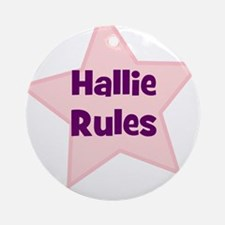 Hallie Rules Ornament (Round)
