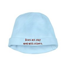 Does not play well with others. baby hat