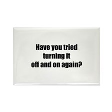 Off and on again Rectangle Magnet (10 pack)