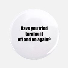 "Off and on again 3.5"" Button (100 pack)"