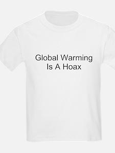 Global Warming Is A Hoax Kids T-Shirt