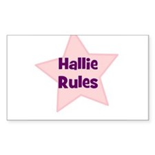 Hallie Rules Rectangle Decal