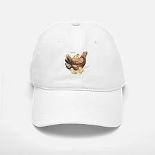 Hen and Chicks Chicken Baseball Baseball Cap