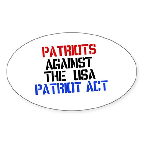 PATRIOT ACT Oval Sticker