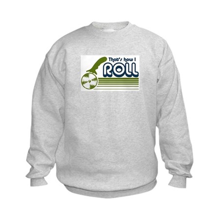 That's How I Roll (pizza) Kids Sweatshirt