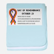 Day of Remembrance baby blanket