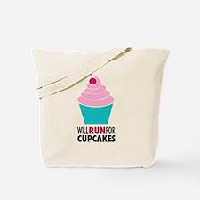 Cute Cupcake run Tote Bag