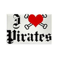 I love pirates Rectangle Magnet