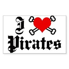 I love pirates Rectangle Decal